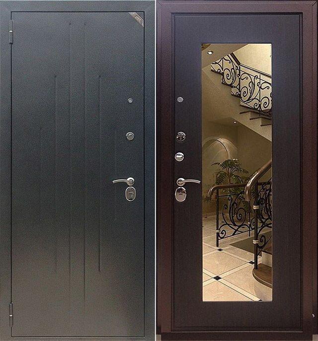 изготовление металлические двери с зеркалом купить москва