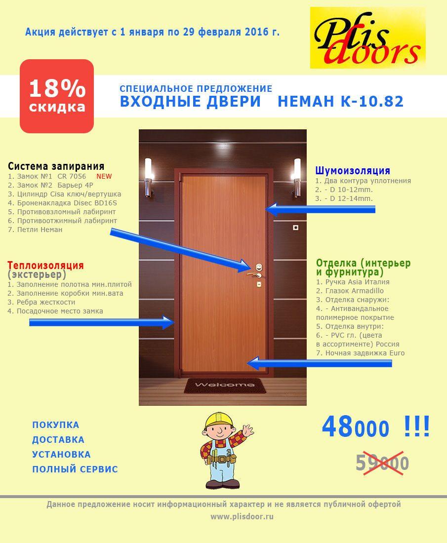 цены на входные двери плюс установка
