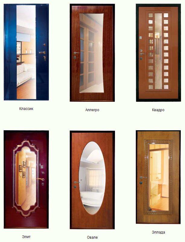 дверь с зеркалом входная выхино